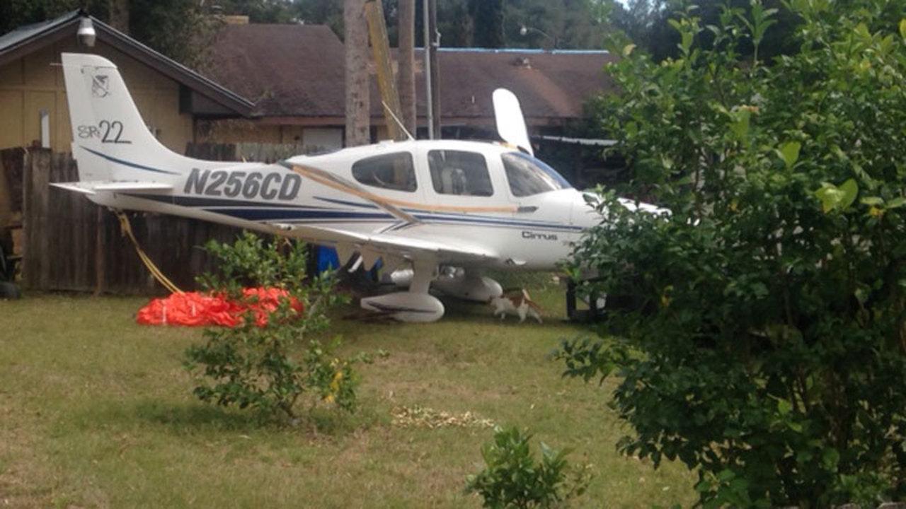 Small Plane Down In Palatka Backyard