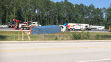 2 kids, 1 adult from SC injured in crash involving semi on I-95