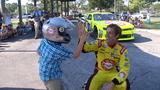 Kid takes NASCAR to school