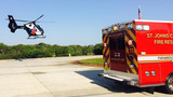 Firefighters: Motorcyclist injured after hitting deer