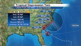 Tropical Depression 2 gaining strength