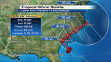 Tropical Storm Bonnie spins toward Carolinas