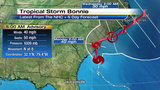 Bonnie weakens as it approaches Carolinas