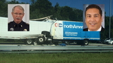 Congressional canidates stop to help semi crash victim