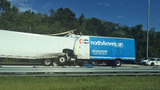 Semi crash blocks I-95 northbound at Max Leggett Pkwy.