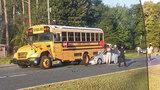 1 hurt in crash involving school bus