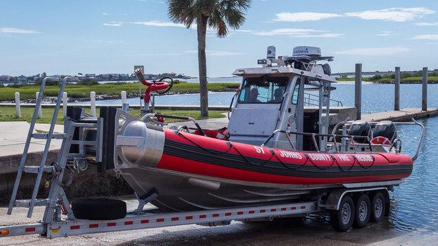 st johns county firefighters debut rescue vessel. Black Bedroom Furniture Sets. Home Design Ideas
