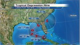 System near Cuba becomes Tropical Depression 9
