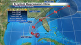 Tropical warnings go up in Carolina&#x3b; TD9 churns in Gulf
