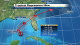 Tropical warnings up along North Carolina outer banks&#x3b; TD 9 churns in Gulf