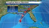 Tropical Storm Hermine's track shifts west