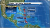 Matthew slowly starts to drift Northwestward