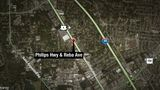 Life-threatening crash closes Philips Hwy NB at Reba Ave