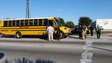 5 taken to hospital after school bus crash, officials say