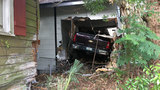 Truck crashes into Murray Hill home in hit-and-run