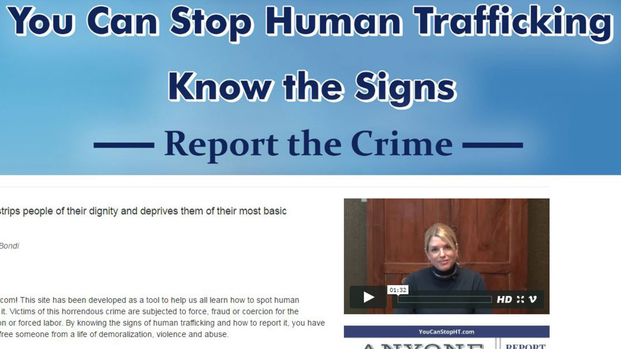attorney general launches website to fight human trafficking