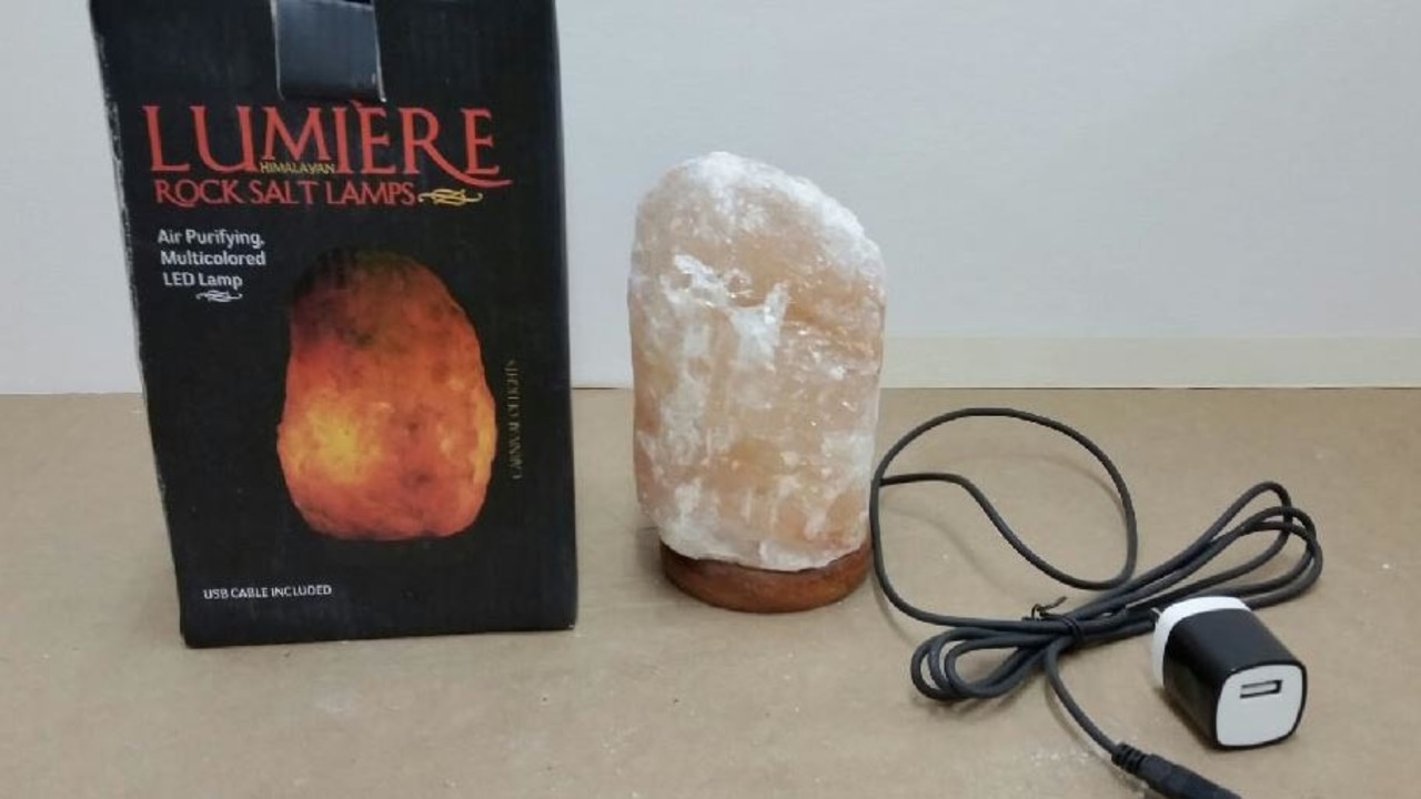 Rock salt lamps recalled