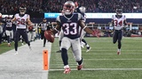 Lewis scores 3 TDS, Pats advance to AFC title game