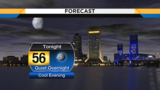 Mild evening turns cool