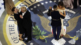 Trumps dance with military members at final inaugural ball