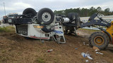 Cement truck overturns on I-295 at San Jose