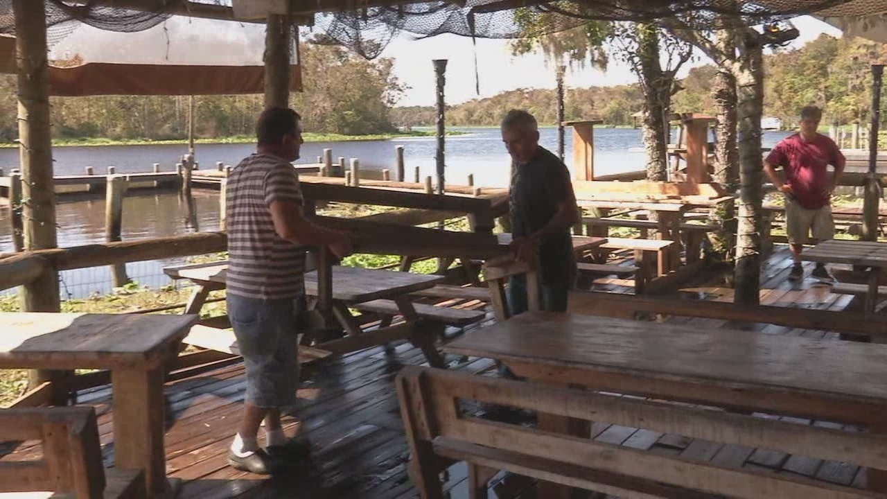 Floodwaters gone clark 39 s fish camp to reopen for Fish camp jacksonville