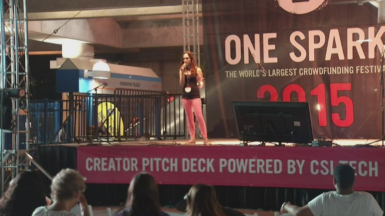 One Spark Creators pitch ideas from Pitch Deck