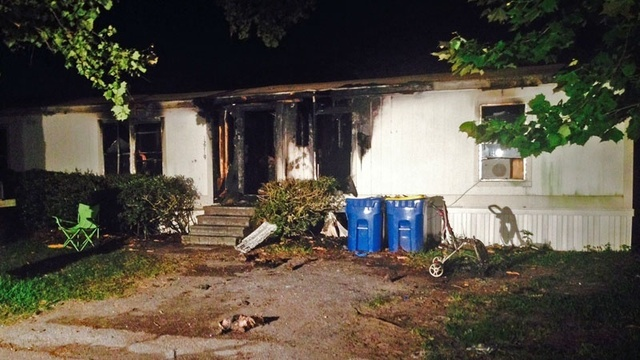 Mobile home site of fatal fire
