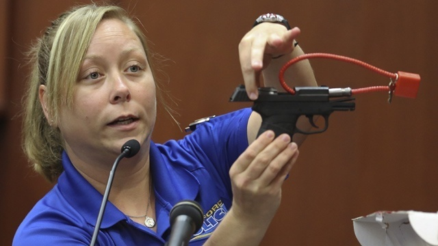 Zimmerman Trial - Gun Shown