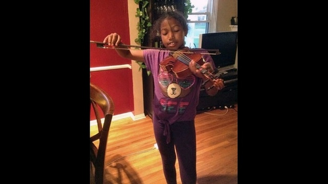 #dangrousblackkids playing violin
