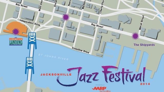 Jazz Festival 2014 map
