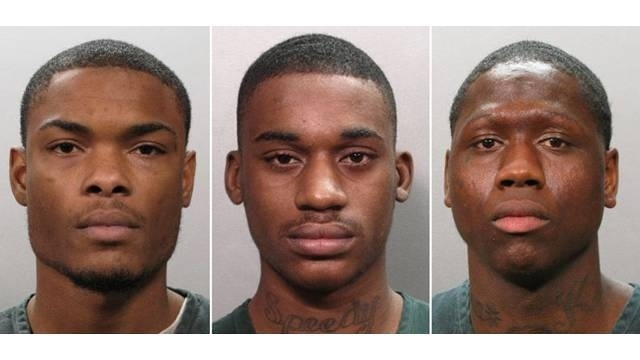 Mug shots of Stanley Armitage, Martin King and Rakeem Mitchner