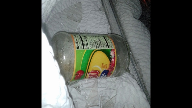 Ragu bottle used as Molotov cocktail
