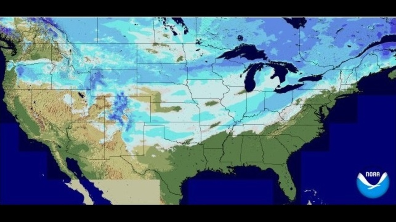 Year Old Cold Weather Record Falls In Jacksonville - Snow cover map usa