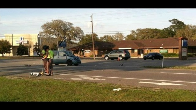 St. Augustine - bicycle hit by car