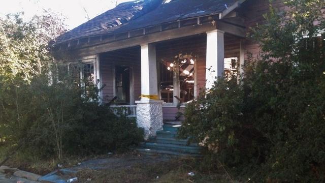 Waycross burned house