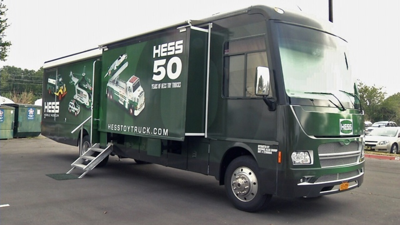Museum honors 50 years of Hess toy trucks