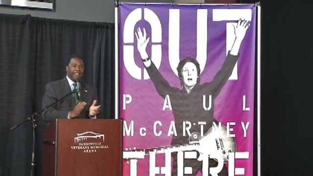 Mayor Brown announces McCartney coming in concert