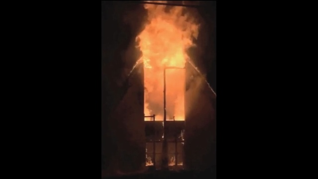 Vacant church fire - cell phone video_24257254
