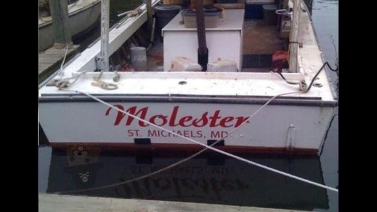Shipwrecked funniest boat names ever Funny fishing boat names
