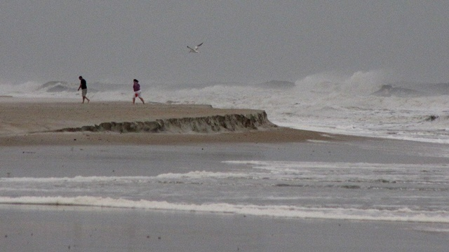 Hurricane Sandy's waves along St. Augustine Beach