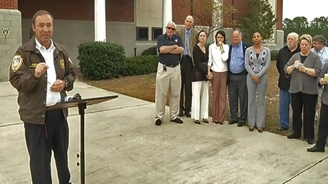 County commissioners show emotion as Chief Matt Doering briefs media about Tom Sublett's death