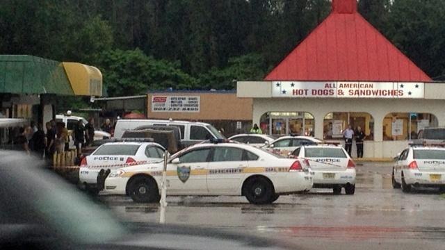 Officer shooting scene