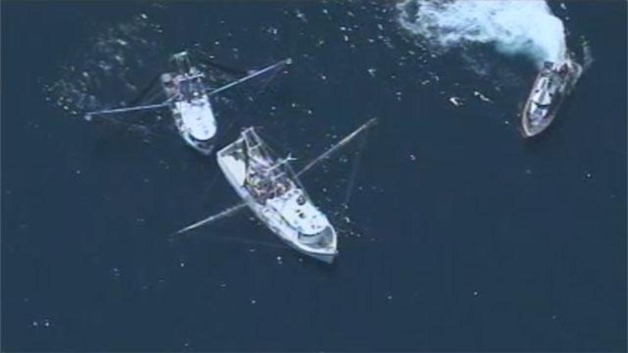 Shrimp Boat Burns 3 Miles At Sea