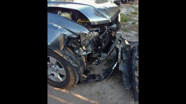 Wrecked Nissan Pathfinder