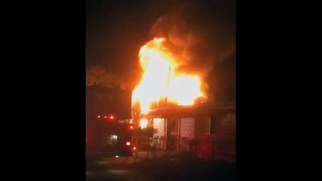 Birder house fire - flames_18561366