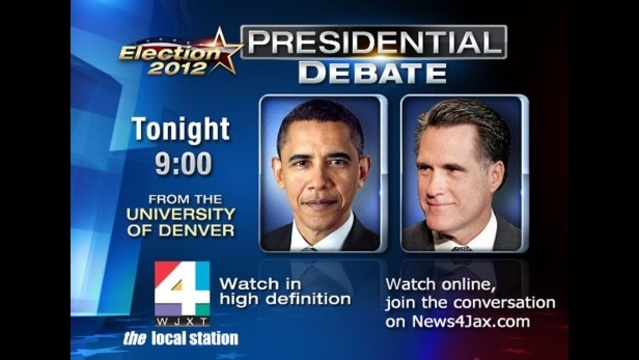 Presidential debate tonight graphic