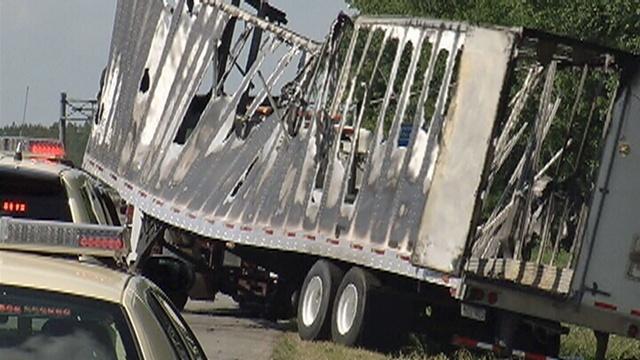 Semi burned in crash_19897880