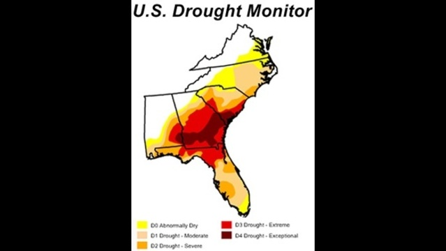 Southeast drought index map - Feb. 27, 2012_9138360