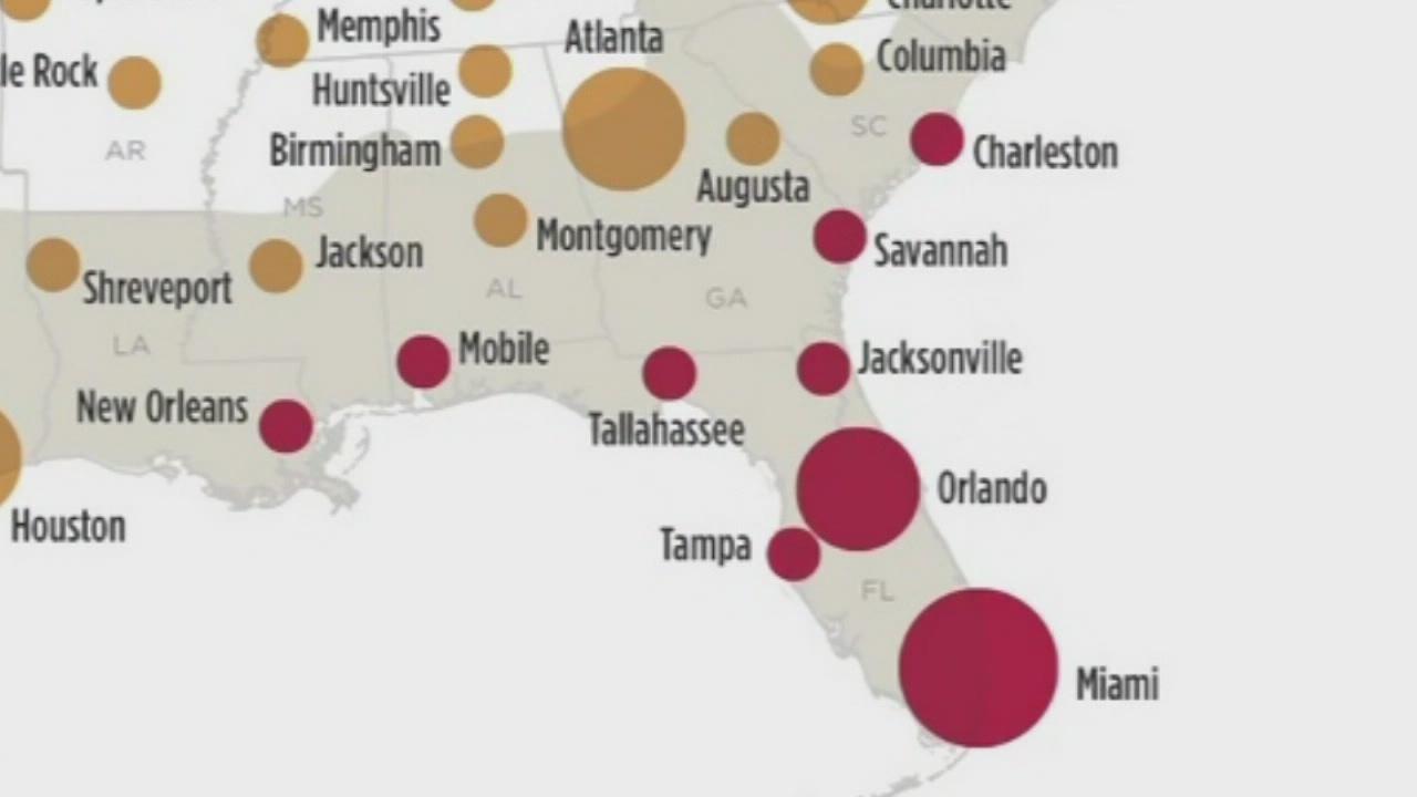 Nasa Map Of Zika S Potential Spread Shows Florida As Hot Spot
